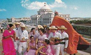 PUERTO RICO, 1940-60s; Folk dancers, Jibaro dance of the mountains, Capitol i...