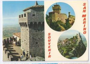 San Marino Multiview Tower Torre Fortress 4X6 Postcard