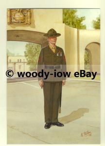 su1450 - US Marine Corps - Drill Instructor - artist Bryan Fosten - postcard