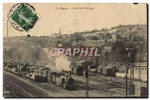 Postcard Old Train Locomotive Agen Coteau s & # 39ermitage
