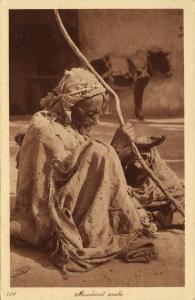 Native Arab Beggar at Work, Arab Beggar (1920s) L. & L. 121