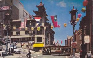 Street View of Chinatown, Grant Avenue, San Francisco, California, PU-1957