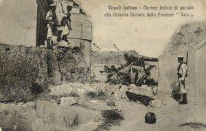 PC CPA LIBIA, TRIPOLI, MARINAI ITALIANI DI GUARDIA, Vintage Postcard (b16633)