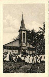 PC CPA PAPUA NEW GUINEA, DIE NEUE MISSIONSKIRCHE, Vintage Postcard (b19753)