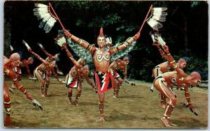 Cherokee, North Carolina Postcard CHEROKEE INDIAN EAGLE DANCE c1960s Chrome