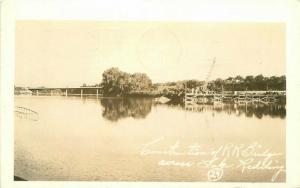 Construction Railroad Bridge Postcard Lake Redding California 3365 RPPC