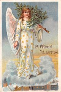 A Merry Yuletide, Yule time, Christmas, Lady Angel, Clouds, Tree 1914