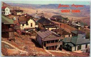 Jerome, Arizona Postcard Panorama Bird's-Eye View GHOST TOWN w/ 1968 Cancel