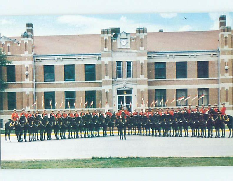 Pre-1980 ROYAL CANADIAN MOUNTED POLICE MOUNTIES RCMP AT BARRACKS Regina SK G1826