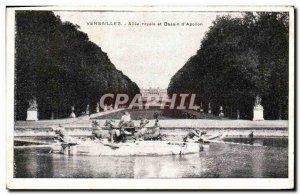Postcard Old Versailles Royal Allee basin & # 39Apollon