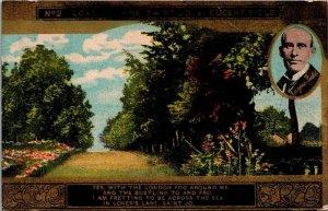 Postcard Lovers Lane Saint Jo Eugene Field Posted 1910 Romance Antique
