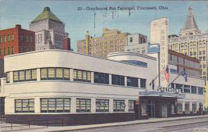 Greyhound Bus Terminal Cincinnatie Ohio C1943urteich