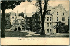 Williamstown, Massachusetts Postcard Morgan Hall, WILLIAMS COLLEGE c1900s