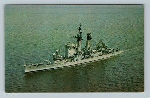 USS Columbus CG-12, Guided Missile Cruiser, Chrome Postcard
