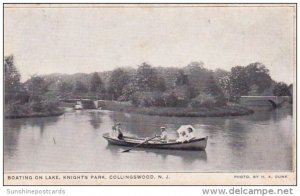 Boating On Lake Knights Park Collingswood New Jersey 1908