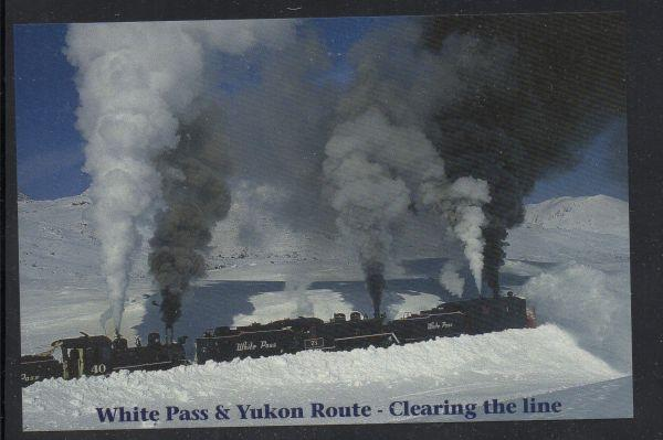 White Pass & Yukon RR  1898 Rotary Snowplow Steam engines 2001 unused