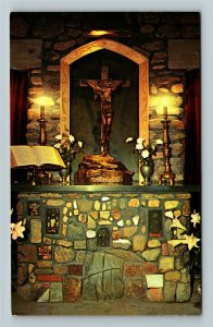Rindge NH- New Hampshire, Chaplain's Altar, Cathedral, Religion, Chrome Postcard