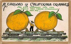 Exaggeration Post Card Oranges California, USA 1911