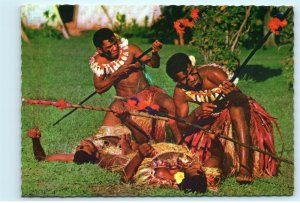 Spear Dance Fiji Vintage 4x6 Postcard E16