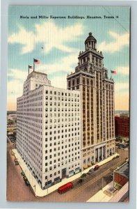 Houston TX, Niels & Millie Esperson Building, Linen Texas Postcard