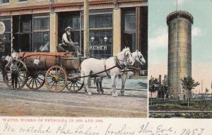 PETROLEA , Ontario, Canada, PU-1907 ; Waterworks , Then & now