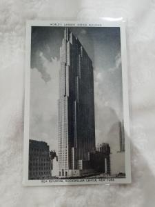 Antique Postcard, World's Largest Office Building - RCA Building...