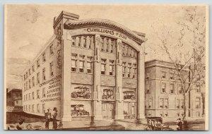 Bloomington IL~CU Williams, Son~Moon Cars~Auto Garage~Sales~Livery~Artist* 1914
