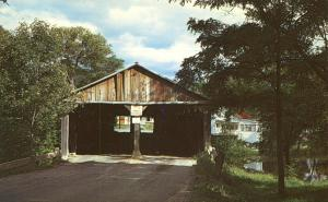 Pulp Mill Covered Bridge - North of Middlebury VT, Vermont