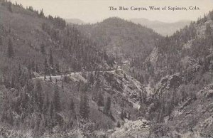 Colorado Sapinero The Blue Canyon West Of Sapinero Albertype
