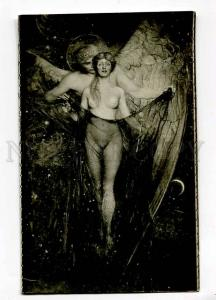 257164 Richard STONE Winged DEATH & NUDE Witch Vintage SALON