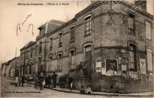 CPA GIVRY-en-ARGONNE - L'École et la Mairie (364401)