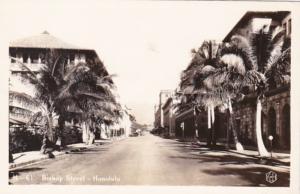 Hawaii Honolulu Bishop Street Real Photo