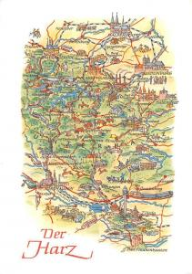 Der Harz Stadtplan Stolberg Tilleda Strassberg Koenigerode Map