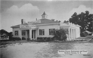 1950s Garden Corner Restaurant Court SC Ahrens Dexter postcard 700