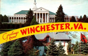 Virginia Winchester Greetings Showing Handley High School