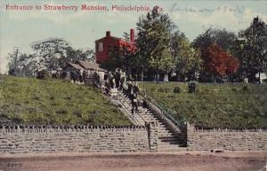 Entrance To Strawberry Mansion Philadelphia Pennsylvania 1912