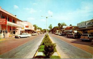 Florida Zephyrhills Downtown Main Street Business Section 1960