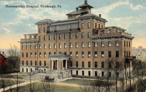 LPS48 Pittsburgh Pennsylvania Homeopathic Hospital Postcard