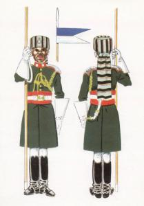 Oficial De La Guardia Real A Caballo Ghana Italy Military Postcard