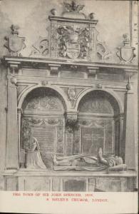 The Tomb of Sir John Spencer 1609 S. Helen's Church London