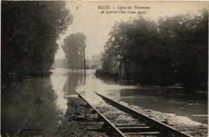 CPA  Blois - Ligne des Tramways de Loir-et-Cher (crue 1907)  (740866)