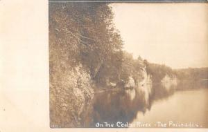 Palisades Cedar River Waterfront Scenic Real Photo Antique Postcard K59682