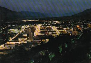 Canada British Columbia Kamloops At Twilight