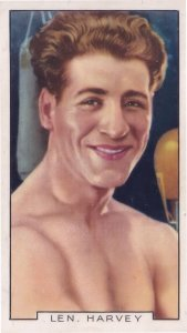 Len Harvey Cornwall Boxer Vintage Rare Sports 1930s Cigarette Card