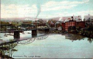 Pennsylvania Allentown The Lehigh Bridge 1910