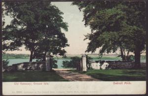 Old Gateway,Grosse Isle,Detroit,MI Postcard