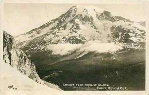 WA, Rainier National Park, Washington, RPPC,Sunrise From Pinnacle Glacier