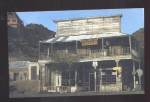 OATMAN ARIZONA ROUTE 66 THE GLORY HOLLE DRUG STORE VINTAGE POSTCARD