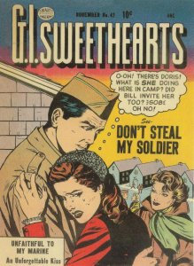 GI Sweethearts 1950s Military Love Comic Dont Steal My Soldier Postcard