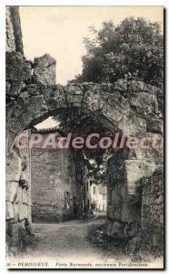 Old Postcard Perigueux Porte Normande Old Fortifications